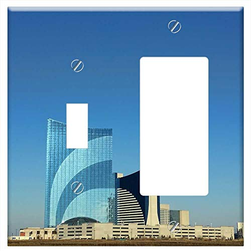 1-Toggle 1-Rocker/GFCI Combination Wall Plate Cover - Atlantic City Harrahs Casino Gambling Beach O
