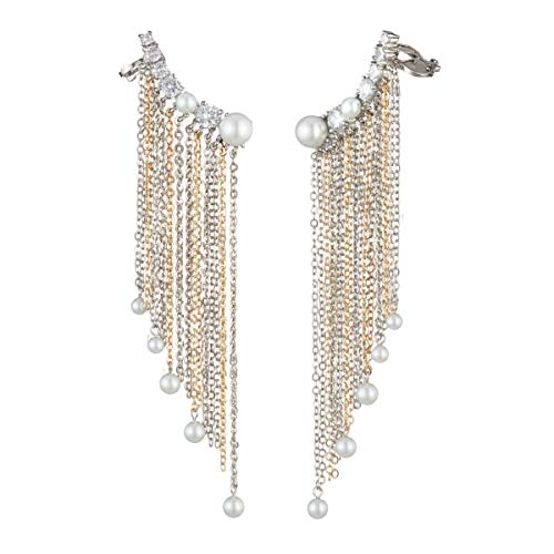 (Carolee Pendent Asymmetrical chain fringe ear crawler)