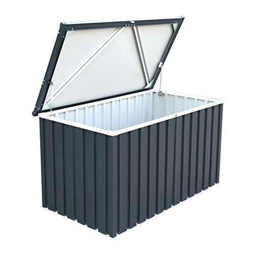 BillyOh Partner 1.3m Heavy Duty Galvanized Steel Metal Garden Cushion Storage Box 27938