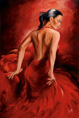 Red Dancer Poster R. Magrini Flamenco (24''x36'') by Close Up