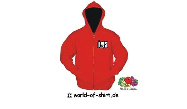 World-of-camiseta con capucha para hombre de cerveza Duff de Los Simpson Rojo rojo Talla:S: Amazon.es: Deportes y aire libre
