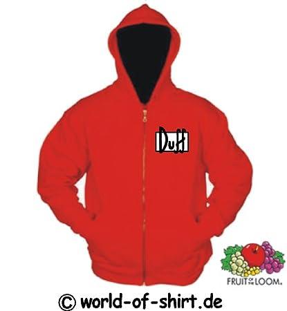 World-of-camiseta con capucha para hombre de cerveza Duff de Los Simpson Rojo