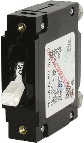 Blue Sea Systems C-Series White Toggle Single Pole 25A Circuit Breaker