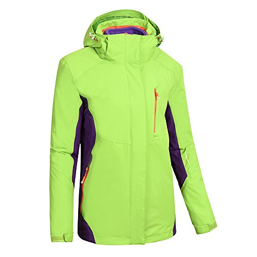 Heated Jacket Women,Waterproof Jacket with New Heating System,Auto-heated Winter Coat For Girls Woman Hooded Windbreaker (XL, Green) by redder (Image #1)