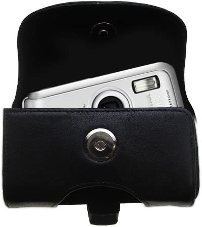 Black Color with Removable Clip Gomadic Belt Mounted Leather Case Custom Designed for The Pentax Optio W10