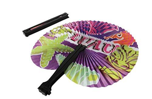 UST (24) Luau Folding Fans ~