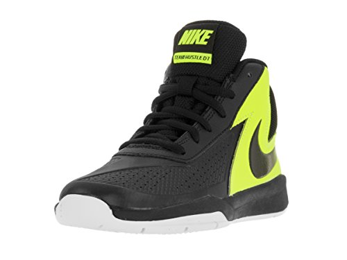 Nike Boy's Team Hustle D 7 Basketball Shoe  Black/Volt/White