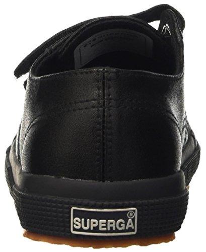 Superga 2750-Microfiberpuvj, Sandalias con Plataforma Unisex Niños Negro
