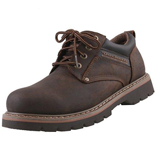 Dockers by Gerli - Zapatos de cordones de cuero para hombre marrón - marrón oscuro