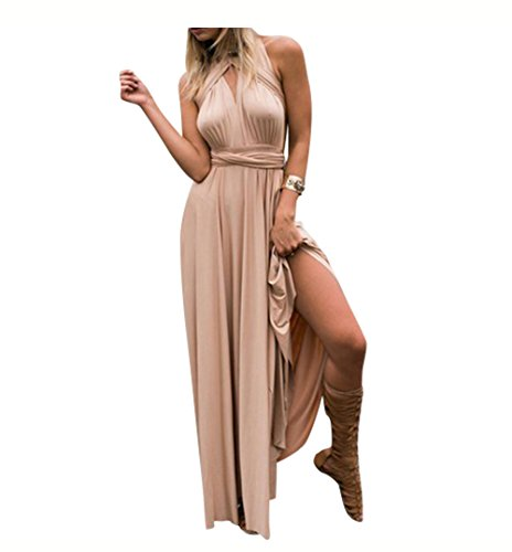 Multi Wear Long Dress - EverChic Women's Convertible Wrap Multi Way Party Long Maxi Dress