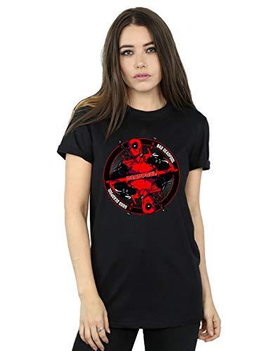 Nera Good Bad Woman Marvel Fit Maglietta Deadpool Friend Little USx8PIT