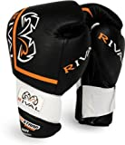 Rival High Performance Hook-and-Loop Sparring Gloves, Black, 14-Ounce