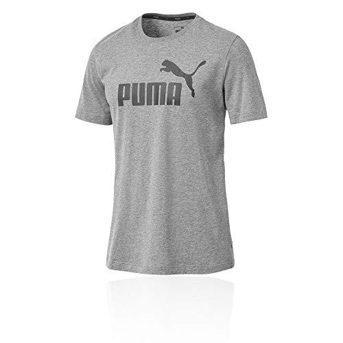 Heather Logo T Ess Uomo Puma Medium shirt Gray 8zTnqA