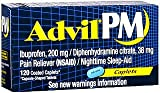 Advil PM Pain Reliever/Nighttime Sleep-Aid -120 Caplets -120 Caplets, Pack of 6