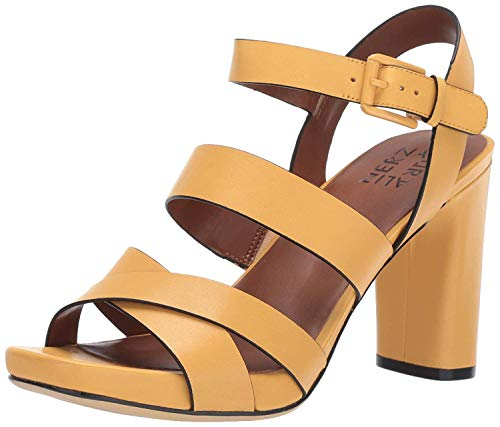 Naturalizer Women's Julisa Heeled Sandal, Tuscan Yellow, 9 M US (Platform Shoes Yellow)