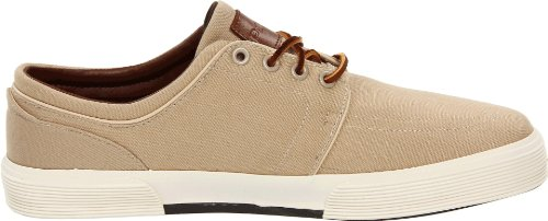 Polo Ralph Lauren Hommes Faxon Low Sneaker, Khaki Canvas, 8.5 D US