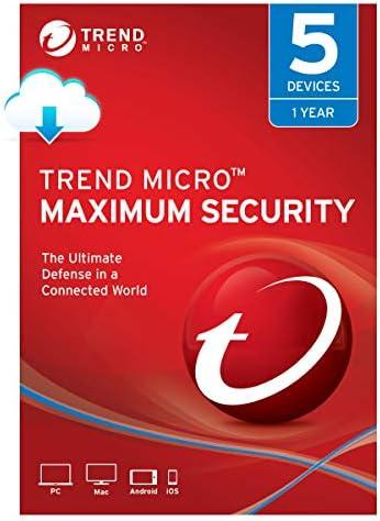 Trend Micro Maximum Security 5 User [Digital] [PC/Mac Download]