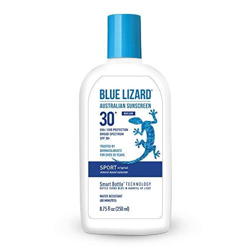 (Blue Lizard Australian Sunscreen - Original Sport Sunscreen, SPF 30+ Broad Spectrum UVA/UVB Protection - 8.75 oz. Bottle)