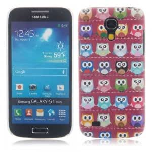 Unique Colorful Plastic Protective Case with Red Owl Pattern for Samsung S4 Mini i9190