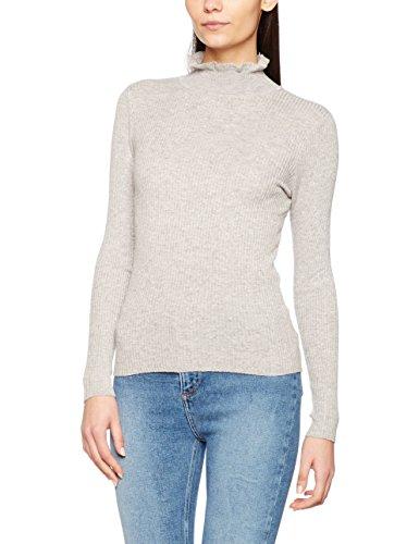 New Look Ruffle Edge Neck, Felpa Donna Grigio (Light Grey)