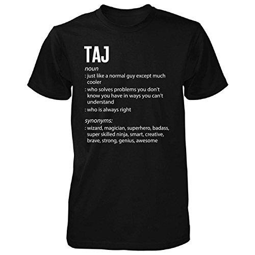 Inked Creatively Taj Name Meaning Xmas Birthday Gift - Unisex Tshirt Black M