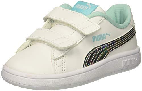 - PUMA Baby Smash V2 Mermaid V INF Sneaker, White-Island Paradise, 10 M US Toddler