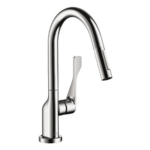 Axor 39836801 Single-Hole Kitchen Faucet Medium Steel Optik