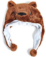 Plush Animal Winter Hat Brown Cub