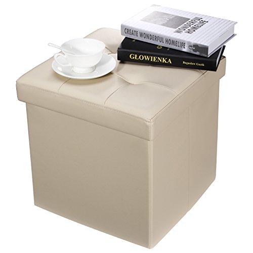 Ollieroo Faux Leather Folding Storage Ottoman Bench Seat