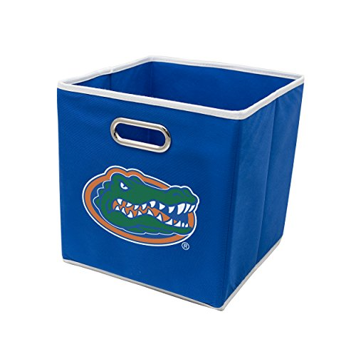 (Franklin Sports Florida Gators Collapsible Storage Bin - Made to Fit Storage Bin Shelf Organizers - 10.5
