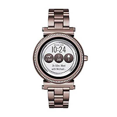 Michael Kors Women's Sofie Touchscreen Smartwatch Stainless Steel Plated, Color:Brown (Model: MKT5030) by Michael Kors Connected Watches Child Code