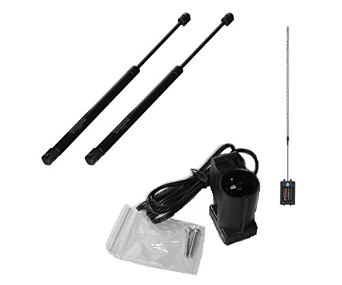 "SUSPA C16-09209 Set of 2 Gas Prop Lift Supports - 76 LB Force Per Pair w/ Gas Prop Switch & 60"" LED Light for Truck Bed Cap"