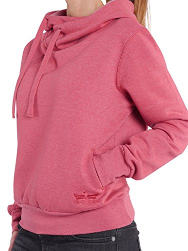 85K1 Finchgirl Lady Hood F1021 Damen Pullover Hoody Kapuzen Rot Gr XXL