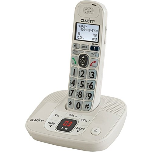 Clarity 53712 DECT 6.0 Cordless Phone System Amplified W/Digital Answer System - ONE - Answer Digital System