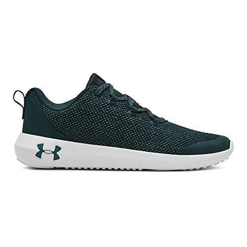 Under Armour Boys' Grade School Ripple Sneaker, Batik (301)/Onyx White, 7 M US Big Kid (Boys Sneakers Size 7)