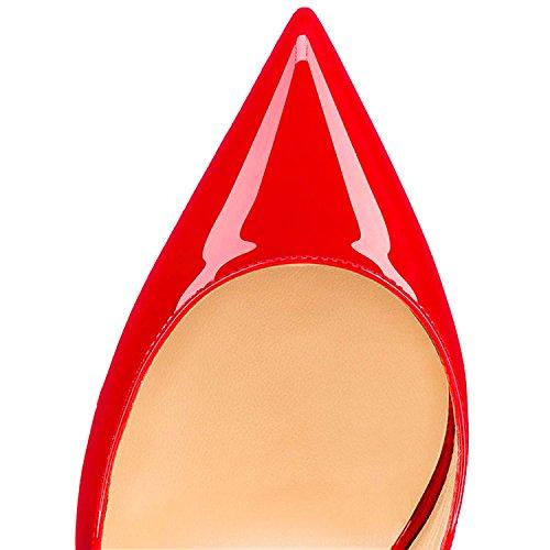 Rosso con Cinturino Alto Tacco EDEFS Taglia Caviglia Grande Scarpe con Alla Scarpe Donna 7qSaSxwF1
