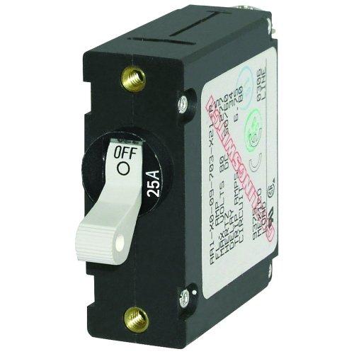 - Blue Sea 7218 AC / DC Single Pole Magnetic World Circuit Breaker - 25 Amp