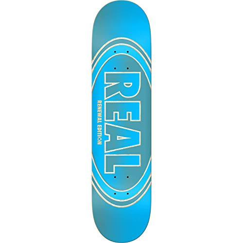 "Real Skateboards Crossfade Renewal Blue Skateboard Deck - 8.25"" x 32"""