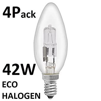 Halogen Leuchtmittel Kerzenform Umweltfreundlich 42 W Entspricht