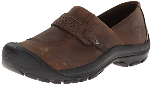 KEEN Women's Kaci Full Grain Slip On Casual Shoe, Cascade Br
