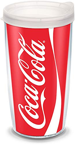 - Tervis 1069674 Coca-Cola - Coke Can Tumbler with Wrap and Frosted Lid 16oz, Clear