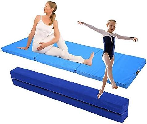 2,2 m Gimnasia plegable flotante Barra Plasware Fitness + colchoneta Esterilla de gimnasia, colchoneta DF920 plegable 180 x 60 x 5 cm: Amazon.es: Deportes y aire libre
