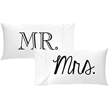 Amazon Com Oh Susannah Mr And Mrs Pillow Cases