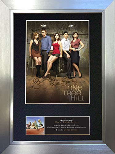 #375 ONE Tree Hill Signed Autograph Photo Reproduction Print A4 Rare Perfect Birthday (297 x 210mm) (Silver Frame)
