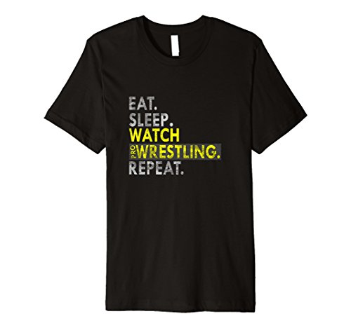 Eat Sleep Watch Pro Wrestling Repeat Gift T-Shirts by World Pro Wrestling Gift Shirts