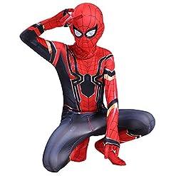 Rongandhe Kids Spider Superhero Bodysuit Halloween Cosplay Costumes Zentai Tights