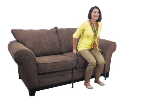 Able Life Universal Stand Assist - Adjustable Standing Mobility Aid + Assist Handle for Couch Chair & Sofa + Dual Cushioned Support Handles for Fall Protection - Cane Protection