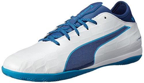 Puma evoTOUCH 3 IT Zapatos de futbol de sala para Hombre, color Blanco, 26.5