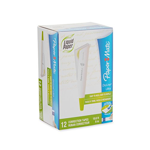 Paper Mate 1777626 Liquid Paper DryLine Ultra Refillable Correction Tape, 12 Dispensers by Paper Mate (Image #4)