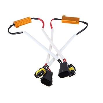 2 LED KKMOON bombilla H8, H9 y H11 2 unidades, protección antibrouillard Xenon HID